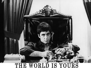 Reprint For THE WORLD IS YOURS Scarface Pacino Gigantic HD Art Poster Painting