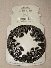 YANKEE CANDLE GOLD LEAVES ILLUMA-LID NIP RETIRED RARE & VHTF