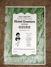 Salt Lake City Hotel Greeters Guide Vintage Brochure