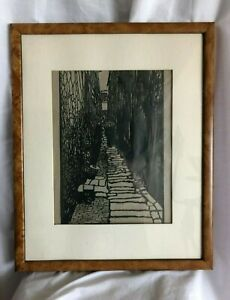 Vintage traditional Chinese Paper cutting arts handcrafted Framed