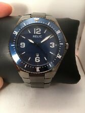 Relic Men's ZR12070 Dawson Gunmetal Watch Blue Dial-H63