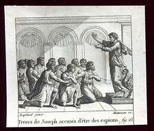 """gravure ancienne François Manceau .Raphaël pinx. """"Frères de Joseph accusés""""1825"""