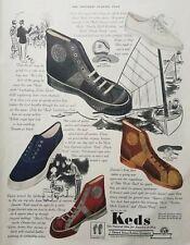 1937 Keds Shoes Footwear Fashion Art Advertising Print Ad
