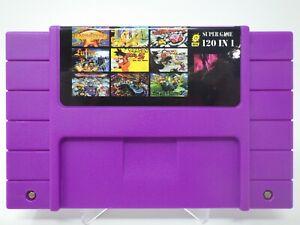 120 in 1 SNES Super Nintendo Multi Cart Game - Zelda Mario Earthbound EVO Chrono