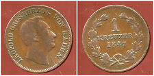 ALLEMAGNE (  baden  )  1 kreuzer  1847  ( 1 )