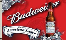 Budweiser The Great American Lager flag 3x5ft banner