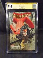 """SPIDER-WOMAN # 1 CGC SS 9.4 SIGNED MILO MANARA VARIANT 1:50 COVER """"BANNER BOOTY"""""""