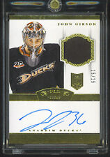 2013-14  DOMINION JOHN GIBSON AUTO  PATCH GOLD RC 15/25 ROOKIE