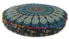 Indian Bohemian Round Pillow Case Floor Cushion Cover Mandala Throw Pillow Sofa