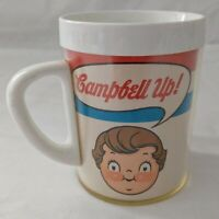 Vintage CAMPBELL UP Soup Coffee Mup Cup Kids Thermo Serv West Bend Plastic