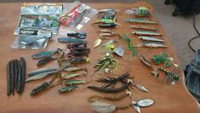 Huge fishing lure lot RAPALA mepps and more spinnerbaits crankbaits worms bass
