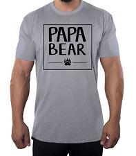Men's Papa Bear Shirt with Bear Claw, Men's Shirts, Cool Shirts for Dad