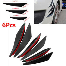 6pc Universal Gloss Black Auto Car Front Bumper Body Fins Spoiler Splitter Refit