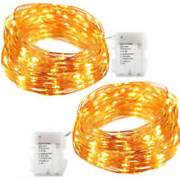 100LED 10M Battery 8 Modes Waterproof String Copper Wire Fairy Lights Xmas Decor