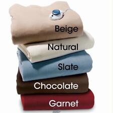 The Best Electric Heated Warming Blanket Natural Color Polyester Full Size