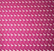 ROSE & HUBBLE CERISE FLAMINGO PRINT FABRIC 100% COTTON 112cm WIDE PER METRE