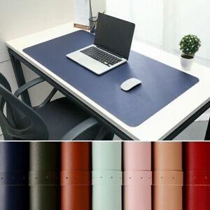 Portable Home Office Desk Leather Mat Waterproof Large pad mouse Laptop Keyboard