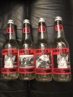 Lot Of 4 Bottles Jones Soda Co. Stripped Cherry RARE 30cal Per Bottle Canadian