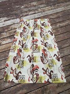 vintage bark cloth curtain very nice 26 x 50