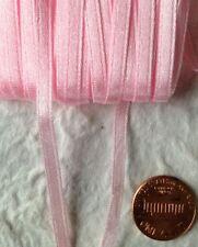 Pink Ribbon satin 6 Yards Cards scrapbooks crafts babies crafts pastel baby girl