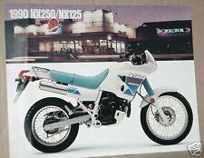 1990 Honda NX250 & NX125 Motorcycle Sales Brochure - Literature