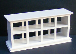 1:12 Scale White Wooden Shop Display Tumdee Dolls House Miniature Shop 134wh