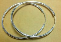 Bangle 925 Sterling Silver Dangle Large Round Hoop Womens Jewelry 70mm Earrings