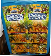 CYBER FORCE Mega Heroes Set Of 6 Battle Sets 1995 Velocity SHOC Ripclaw, Stryker