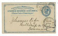1889 UX6, Philiadelphia PA to Hellerup Denmark, Commercial Nurseries Seeds
