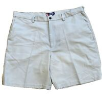 CHAPS  Men's Beige Pleated Golf Shorts - Size 40