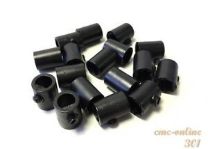 Cord Grip Cylinder Vintage pendant strain relief cable lock 10mm Black 301