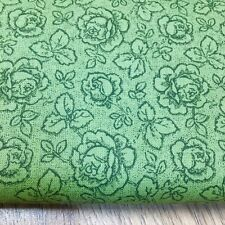 Shabby Chic Green Meadow Roses 100% Cotton Fabric. Price per 1/2 meter