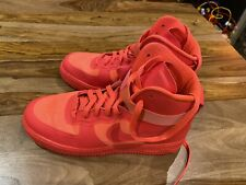 NIKE AIR FORCE 1 HI HYP PRM SOLAR RED SIZE 9 RARE VINTAGE 2011 HYPERFUSE