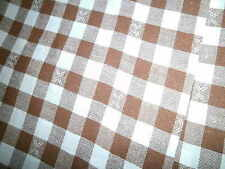 60 s Fabric Bettwäsche  1 Bettbezug  Bauernkaro Braun weiß Patchwork Nähen etc
