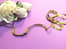 6 metres Rich Gold String Sequin Braid LaceTrim Dance Tutu 6 mm#2GD380R