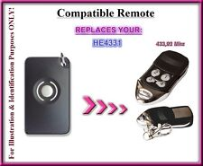 HOMENTRY HE4331 HE60, HE60R, HE60NZ compatible remote control replacement