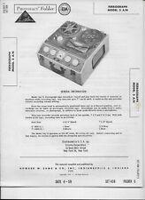 1959 PHOTOFACT Ferrograph Tape Recorder 3 A/N Manual #1310
