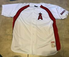 897ba28b Stitches Los Angeles LA Angels Button Front Jersey Shirt White w/ Red 2XL