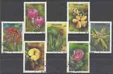 Timbres Flore Tanzanie 1702/8 o lot 17924