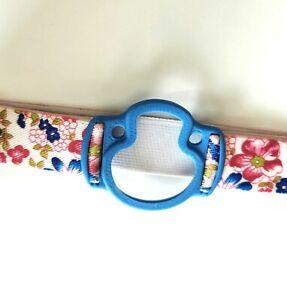 ENLITE MEDTRONIC Armband / Holder - flexible, latex-free (blue, flowers 2)