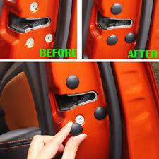 12Pcs Car Accessories Door Lock Screw Protector Cover Sticker Black ABS Plastic