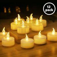 LED Tea Light Unscented Tealight Votive Candle Christmas Décor Flameless 12 Pack