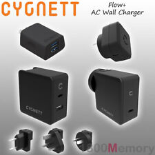 GENUINE Cygnett Flow+ Wall Charger USB-C PD Power Delivery USB-A AC Travel