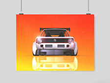 VW GOLF A3 POSTER VOLKSWAGEN RETRO CAR WALL PICTURE PRINT