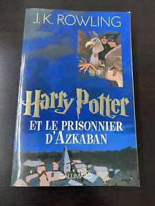 Livre HARRY POTTER et le prisonnier d'azkaban edition GALLIMARD JK ROWLING