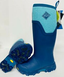 Muck Womens Blue Geometric Arctic Ice Tall NEW VIBRAM ICETREK SOLE WINTER BOOTS