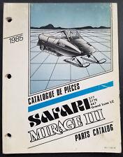 1985 Ski Doo Safari - Mirage Iii Snowmobile Parts Catalog