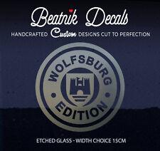 VW Wolfsburg Logo Vinyle Graphique Verre Gravé Fenêtre Autocollant-Haute Qualité
