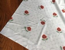 Vintage New Old Stock Rose Mint Green Polka Polyester 2 Yards