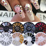 Glitter 3D Nail Art Rhinestones Gems Tips Stickers Crystal Nail Art Decorations